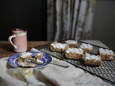 Petite Kitchen's coconut cream fudge slice with prunes and lemon zest - Viva