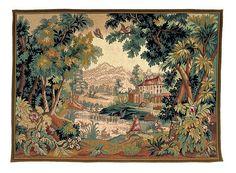 Tapisserie de france tapisserie de flandres PAYSAGE DU LAURAGAIS Point d'Halluin