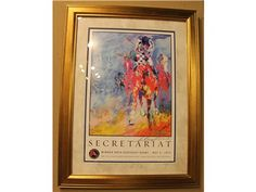 Signed Secretariat Framed Picture