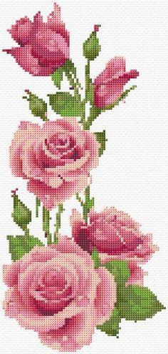 Cross Stitch | Roses xstitch Chart | Design