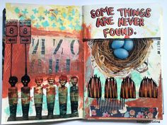 New Art Journal: Comic Book with Pull Out Pages #badjonesrising #art #artjournal #comicbook #sketchbook