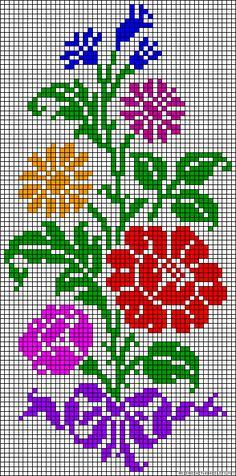 The most beautiful cross-stitch pattern - Knitting, Crochet Love Beaded Cross Stitch, Cross Stitch Flowers, Cross Stitch Charts, Cross Stitch Designs, Cross Stitch Embroidery, Cross Stitch Patterns, Hand Embroidery, Bead Loom Patterns, Beading Patterns