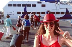 I had an amazing #trip @ @santoriniisland  it's time to come back with the fastest way to my base ✌️ #lovefashiongr #fashionblogger #greekblogger #santorini #seajets #trip #travel #seajetsgr