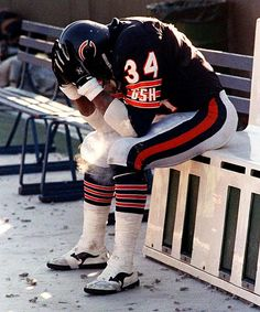 Walter Payton - Chicago Bears - His last game (Jan Class Act!