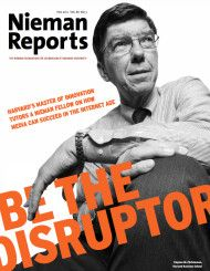 Be the Disruptor Cover - Nieman Foundation at Harvard
