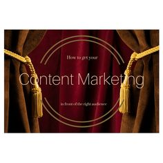 Content marketing won't magically fall into the right hands at the right moment. Here's how to get your content in front of the right audience. Content Marketing, You Got This, How To Get, In This Moment, Its Ok, Inbound Marketing