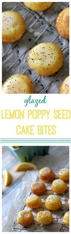 Glazed Lemon Poppy Seed Cake Bites by Life with the Crust Cut Off
