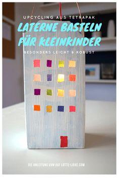 DIY: Laterne basteln für Kleinkind - #upcycling Tetrapak