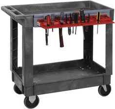 Heavy Duty Mobile Cart 3 Shelves 550 lbs Industrial Rolling Tool Handcart Gray #QuantumStorageSystems