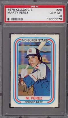 1976 Kellogg's #26 Marty Perez Braves PSA 10 by Kellogg's. $12.25. 1976 Kellogg's #26 Marty Perez Braves PSA 10. If multiple items appear in the image, the item you are purchasing is the one described in the title.