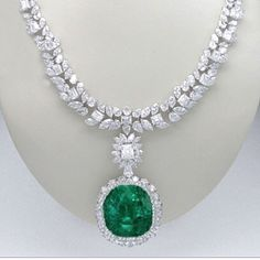 Magnificent Emerald Necklace by @bijancoinc 68.8 Colombian and 95 cts diamond by one and only @Bijancoinc #Bijancoinc