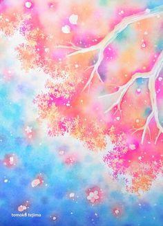 ~青空を待って~水彩画で桜の花を下から見上げるように描きました。春の晴れた青い空に、あたたかい優し色の桜が咲くきもちのいい日。2014年3月11日の東日本大震...|ハンドメイド、手作り、手仕事品の通販・販売・購入ならCreema。