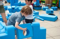 Playground in a box - amazing idea! (via Archdaily.com article abouth the Imagination playground project)