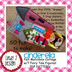 FAIRY TALE MATCHBOX Cottage #4 Cinderella Pdf Pattern