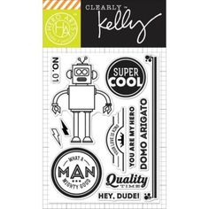 Hero Arts - Clearly Kelly - Clear Stamps -Super Cool