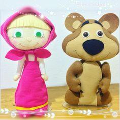 Masha e o Urso feltro