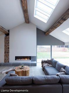 Cheshire Barn Renovation & Extension - contemporary - Living Room - Manchester UK - Llama Property Developments