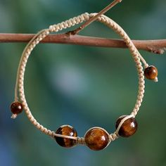 Tiger's eye shamballa bracelet, 'Lucky Tranquility'. Shop from #UNICEFMarket and help save the lives of children around the world.