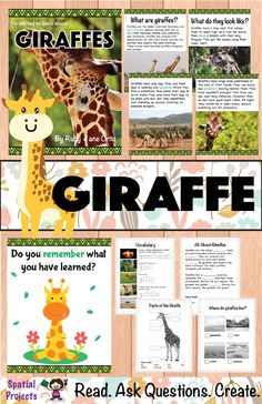 Check out this All About Giraffes nonfiction unit for your 1st, 2nd, or 3rd grade students. You will get a book with text features, worksheets, lap book assembly guide, and craft pattern. Also included is a booklet which contains graphic organizers and writing activities. The activities include identifying the main idea and supporting details, note-taking, filling up a K-W-L chart, opinion writing, expository writing, story writing, tracing, drawing and coloring. Fun Grassland Animal…