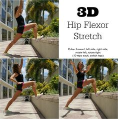 3D Hip Flexor Stretch to prevent IT band and hip injuries in runners