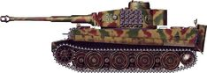 "Tiger H/E camouflage patterns - Germany, January 1945 sPzKp ""Hummel"""