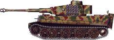 """Tiger H/E camouflage patterns - Germany, January 1945 sPzKp """"Hummel"""""""