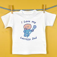 Baby T-shirt I Love My Lacrosse Dad - 100% super soft cotton