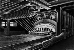 Wire Hell Fire by Boris Artzybasheff History Of Illustration, Illustration Art, Art Illustrations, Fire Drawing, Mechanical Art, Commercial Art, Fantastic Art, Sci Fi Art, Surreal Art