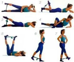 resistance band exercises for booty - Pesquisa Google