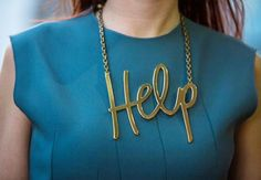 Cool Wire Word Necklaces #accessories