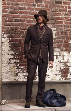 We love brown. #hat#suit#shoes#anythingyoulike.