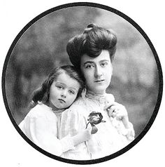 Edith Vanderbilt with Cornelia, Edith and George's only child.
