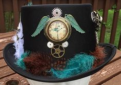 Have a taste for a simpler, nature look? This hat is just right for you! Beautifully detailed with bird designs, wings, and feathers, complete with gears for that classic look. Hat runs smaller so may be snug on larger heads. Steampunk Hat, Mei, Vintage, Etsy, Jewelry, Fashion, Moda, Jewlery, Jewerly