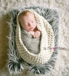 Newborn photo, loving the layers of fabric