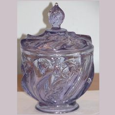 Fenton 6780 LX Lilac Paisley Covered Candy Box