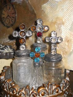 sweet & petite vintage cross bottles...