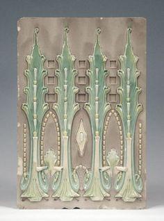 781: Art Nouveau (Jugendstil)-Stove tile. Ofen- und Wa