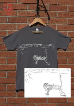 Items similar to Personalized Cotton T-Shirt - Men's Top Custom Silk Screen Print Your Child's Drawing on Jersey Knit Cotton Top Keepsake Gift for Dad on Etsy Silk Screen Printing, Personalized T Shirts, Drawing For Kids, Colorful Shirts, Casual Shirts, T Shirts For Women, People Art, Trending Outfits, Cotton