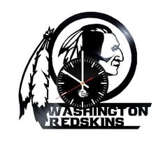 Washington Redskins Handmade Vinyl Record Wall Clock Fan Gift - VINYL CLOCKS