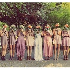 Melissa and her bridesmaids - gorgeous! Melissa wears our Hollie dress. Image via @collectedwithlove xx www.graceloveslace.com.au #gllrealweddings