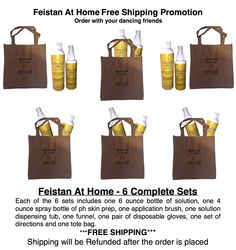 When you order the Feistan At Home 6 complete set package with your dancing friends, your shipping will be refunded! (U.S.A. orders only) Spray tan bookings for NANs is also open. www.Feistan.com