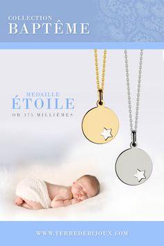 C'est la saison des baptemes ! Trop mignonne cette médaille étoile pour un bébé, Vous ne trouvez-pas ?  A seulement 59 euros, cette très belle médaille en or avec son étoile ajourée est le cadeau de bapteme idéal pour bébé ou jeune enfant !