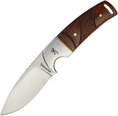 Browning Cocobolo Wood Handle Stainless Fixed Blade Knife + Leather Sheath 0229 Collectible Knives, Fixed Blade Knife, Brown Leather Belt, Browning, Handle, Wood, Woodwind Instrument, Collector Knives, Timber Wood