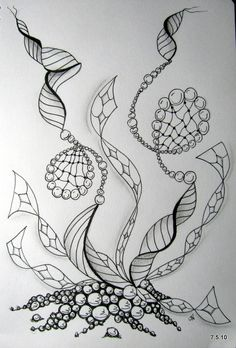 Zentangle. Even if this is only a thumbnail, always sign your art work. Size doesn't matter!