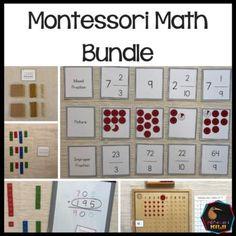 Montessori Math Bundle by Montessorikiwi | Teachers Pay Teachers Montessori Math, Montessori Elementary, Elementary Math, Upper Elementary, Counting Activities, 10 Picture, Place Values, Math Resources