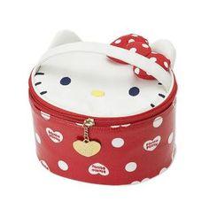 Sanrio Hello Kitty Vanity Case Polka-dot Ribbon I Love Kitty Japan Exclusive