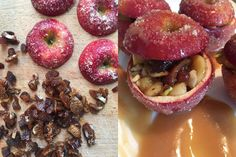 Aux Bulles Weihnachtsrezepte - Pommes surprises Plum, Fruit, Food, Bubbles, Fried Apples, New Recipes, Apple, Food And Drinks, Food Food
