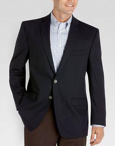 Calvin Klein Navy Solid Slim Fit Blazer