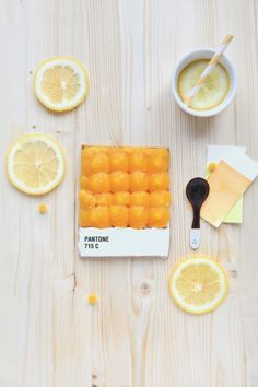Apricot Pantone tart created by French food designer Emelie De Griottes.