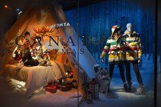 The Bay Christmas windows 2012 visual merchandising